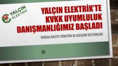 YALÇIN ELEKTRİK'TE KVKK ÇALIŞMALARIMIZ DEVAM EDİYOR