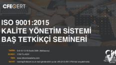 ISO 9001:2015 BAŞ TETKİKÇİ – UK CPD ONAYLI ONLINE HAFTA SONU 5-6-12-13-19 ARALIK